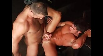 Muscle daddy fucks gorgeous boy