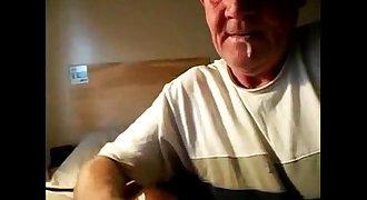 Grandpa sucking boy