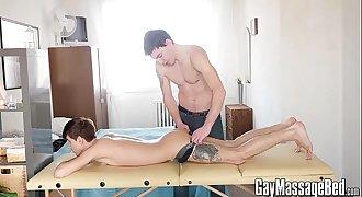 Cute twink Yuri Adamov wants to attempt a cock after rubdown