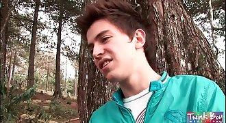 TwinkBoyMedia Two lad boys fucking in the woods