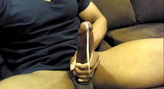 black jizz flow solo jerking off cum 6/7